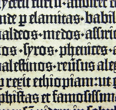 Designed Type And Typography Based On Existing Bookmaking Traditions The Lettering Seen In Close Up Left Is Blackletter Style